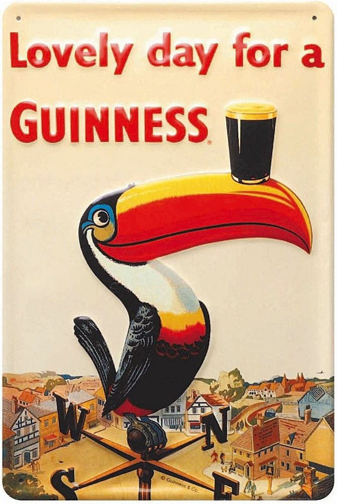 hi 3020 Guinness Thirst Prize embossed steel sign