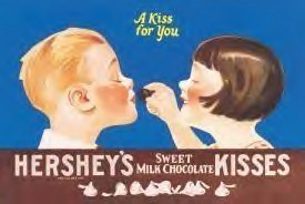 Hersheys Kiss For You Tin Sign  HALF PRICE TO CLEAR