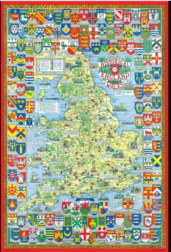 Map Of Uk Jigsaw.Historical Map Of England Wales 1000 Piece Jigsaw Puzzle Jg