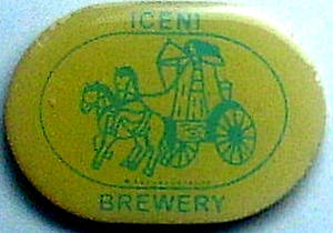 Iceni Brewery enamel fridge magnet  REDUCED!!