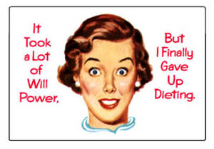 It took a lot of will power.. funny fridge magnet