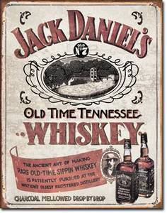 Jack Daniels Tennessee Whiskey metal sign (sf pt)