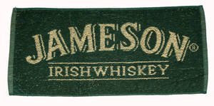 Jameson Irish Whiskey Cotton Bar Towel  525mm x 250mm  (pp)
