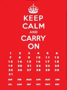 Keep Calm & Carry On metal everlasting calendar