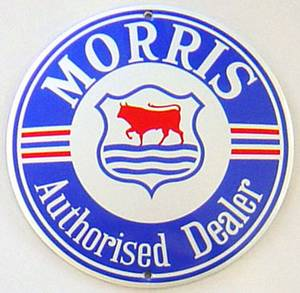 Morris Stove Enamelled Badge  (jj 13 rnd)