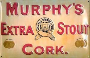 Murphys Extra Stout embossed metal sign