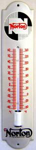 Norton stove enamelled steel thermometer (silver)    (jj)