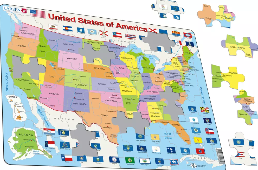 Political Map of the United States of America - Frame Board Jigsaw on political map mexico, political map germany, political map india, political map togo, political map france, political map ireland, political map comoros, political map south africa, political map israel, political map russia, political map australia, political map japan, political map georgia, political map benin, political map brazil, political map spain, political map liechtenstein, political map slovakia, political map italy, political map el salvador,