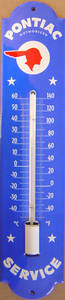 Pontiac vitreous enamelled steel thermometer   (jj)