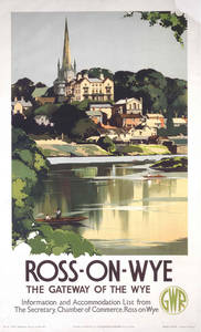 Ross On Wye (old rail ad.) fridge magnet
