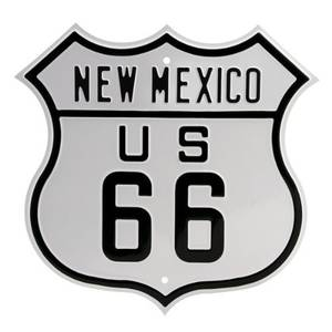 Route 66 New Mexico heavyweight shaped steel sign