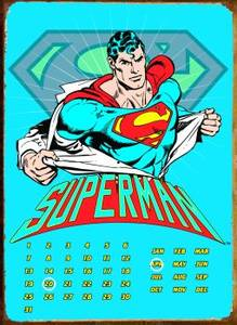 Superman Ripped Shirt everlasting metal calendar  REDUCED
