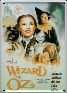 Wizard of Oz metal postcard / mini sign / fridge magnet